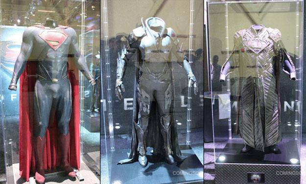 Los trajes de Superman, Faora y Jor-El en Man of Steel