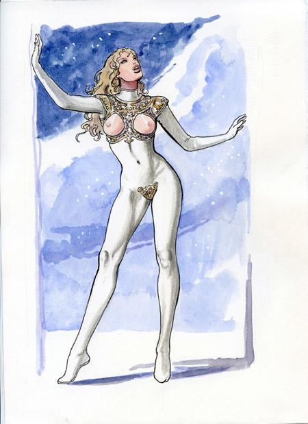 Diseño del remake de Barbarella que Martha de Laurentiis planeó