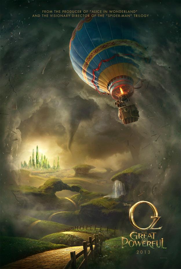 El primer cartel oficial de Oz, un mundo de fantasía... es para cagarse