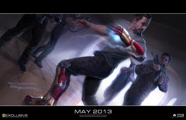Exclusiva de la Comic-Con 2012: primer concept art de Iron Man 3 obra de Ryan Meinerding