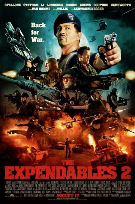 Nuevo póster de Los mercenarios 2 para la Comic-Con 2012