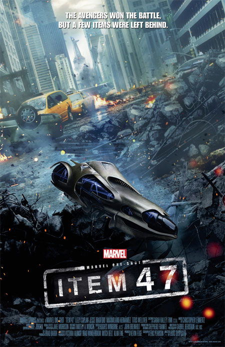 Cartel del corto Item 47 de Marvel Studios... un one-shot post Los Vengadores