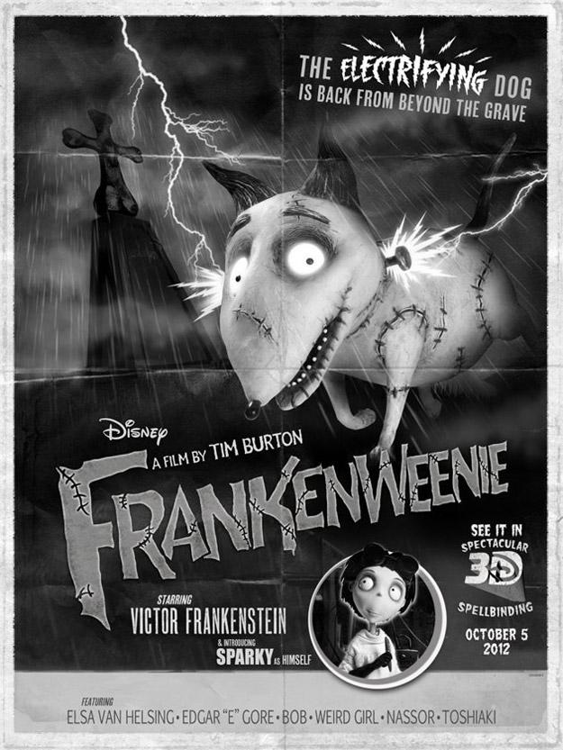 Nuevo cartel de Frankenweenie exclusivo para la Comic-Con 2012