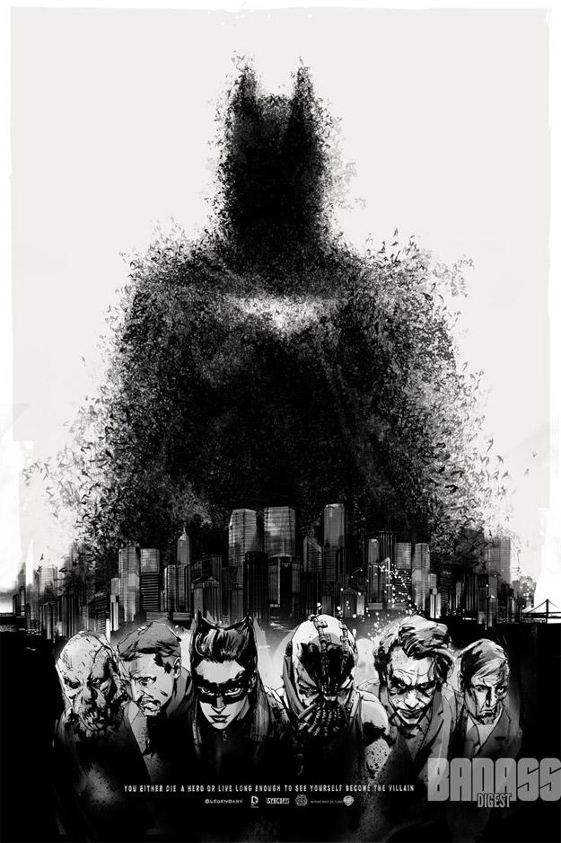 Cartel de El caballero oscuro: la leyenda renace con villanos