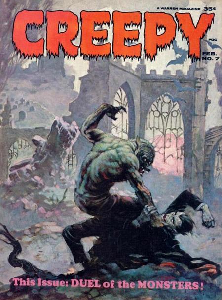 Una de las portadas de la famosa revista CREEPY