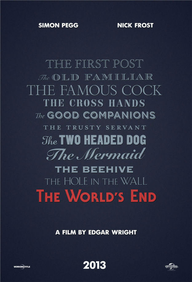 Primer cartel de The World's End