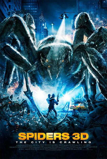 Curioso cartel de Spiders 3D de Tibor Takacs
