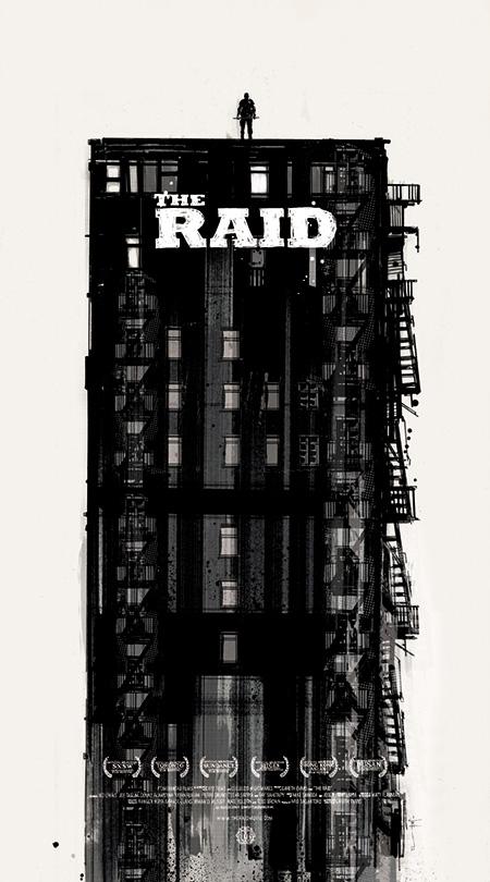 Chulo cartel de The Raid por Jock y Mondo