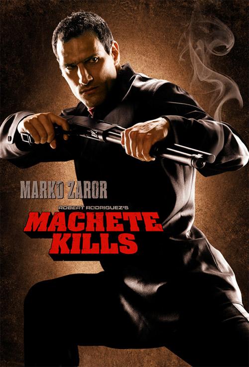 Nuevo cartel de Machete Kills con Marko Zaror