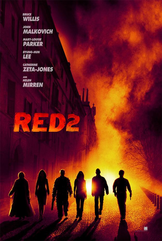 Primer cartel de Red 2, ya visto pero ahora en alta resolución