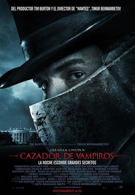 Cartel español de Abraham Lincoln: cazador de vampiros