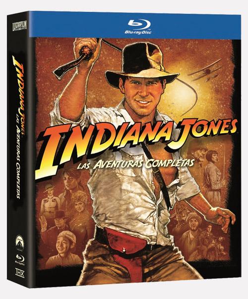 """Carátula de la caja de """"Indiana Jones las aventuras completas"""""""