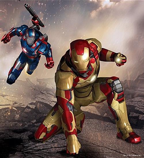 Concept art de la nueva armadura que veremos en Iron Man 3 junto a Iron Patriot