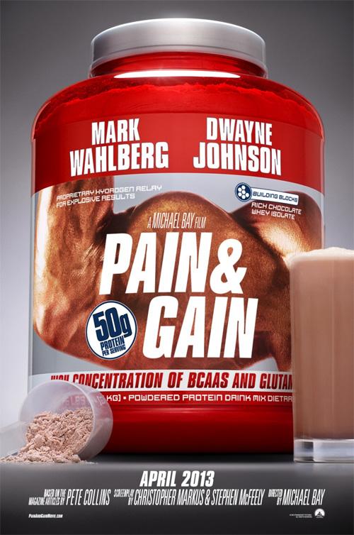 A mi este cartel de Pain & Gain de Michael Bay me mola, aunque parezca un anuncio publicitario