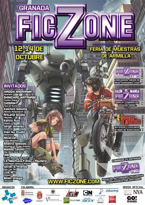 Cartel del FicZone: Convención de Cómic, Animación y Videojuegos de Granada
