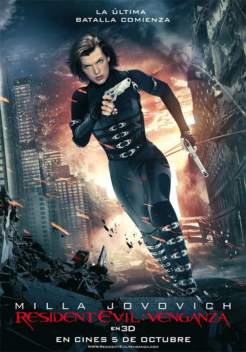Cartel español de Resident Evil: venganza