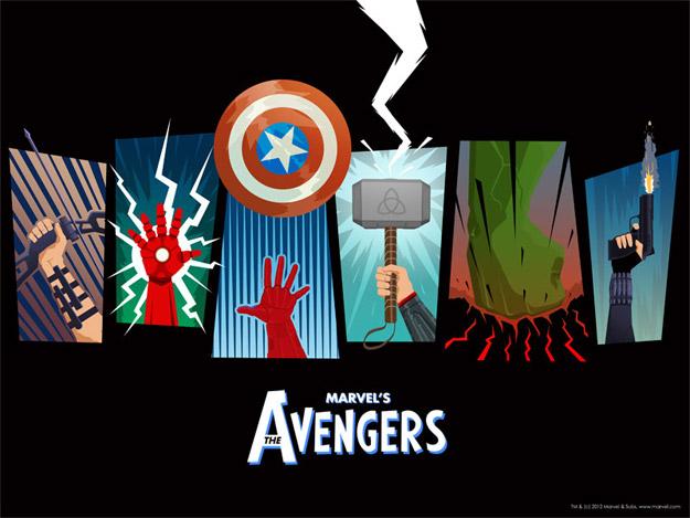 Un simpático cartel de Los Vengadores que regalan en USA con el Blu-Ray