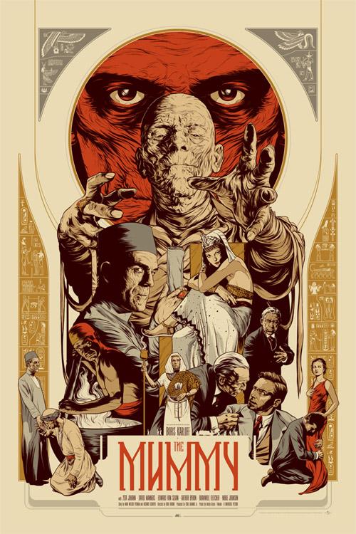Un genial cartel Mondo para La Momia, el clásico protagonizado por Boris Karloff