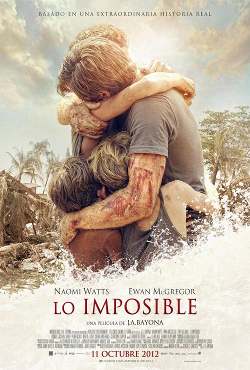 Póster final de Lo imposible de Juan Antonio Bayona