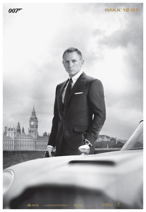 Simple pero más que eficiente cartel IMAX de Skyfall