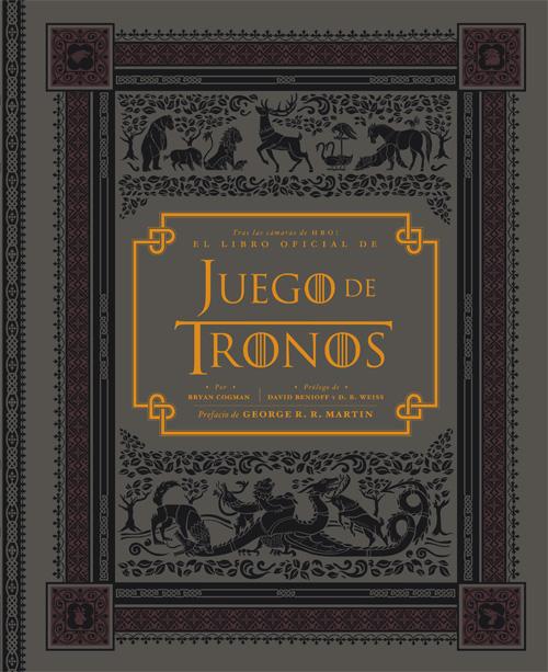 """Portada del libro """"Juego de tronos: Tras las cámaras de HBO"""""""