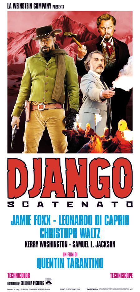 Cartel fan made de Django desencadenado