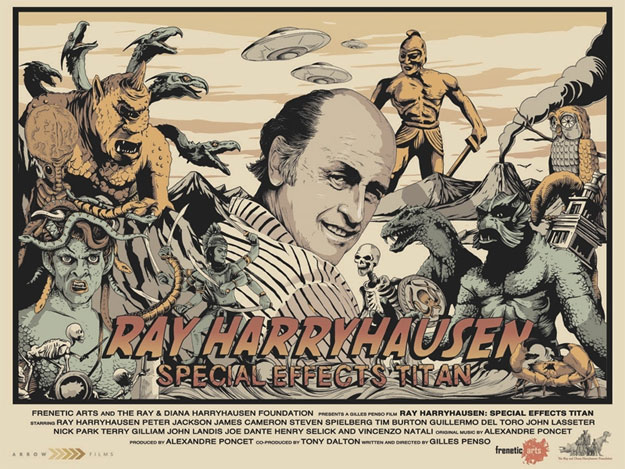 Cartel del documental Ray Harryhausen Special Effects Titan