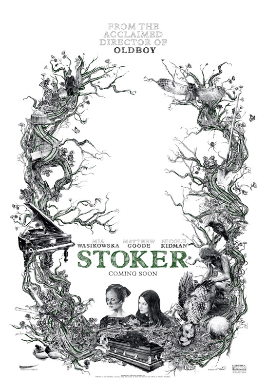 Fabuloso cartel de Stoker de Chan-wook Park