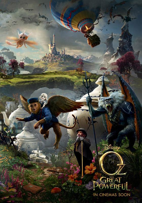 El nuevo cartel de Oz un mundo maravilloso y el CGI a cascoporro!