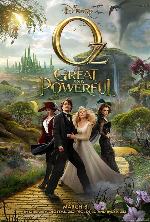 Uno de los muchos carteles de Oz: un mundo de fantasía