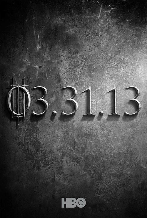 """Primer cartel de la tercera temporada de """"Game of Thrones"""" de la HBO"""