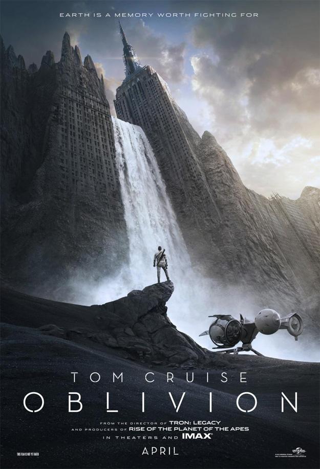 Primer cartel de Oblivion