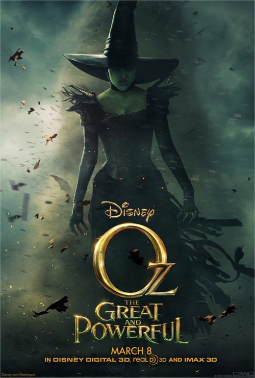 Nuevo tremendo cartel de Oz: un mundo de fantasía... cuando lo que te llama la atención es el escote de la bruja
