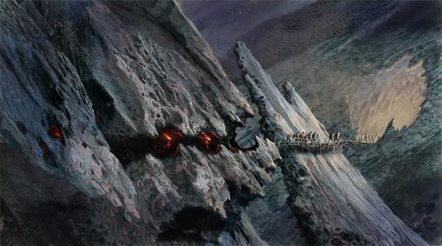 Las cuevas donde vive el Rey Trasgo, obra de John Howe