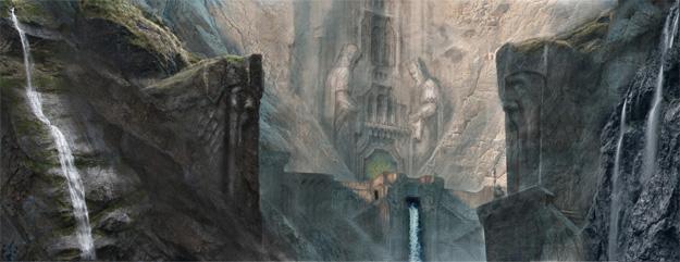 La entrada a la gran ciudad de los enanos Erebor