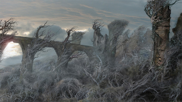 La siniestra fortaleza de Dol Guldur, hogar del Nigromante