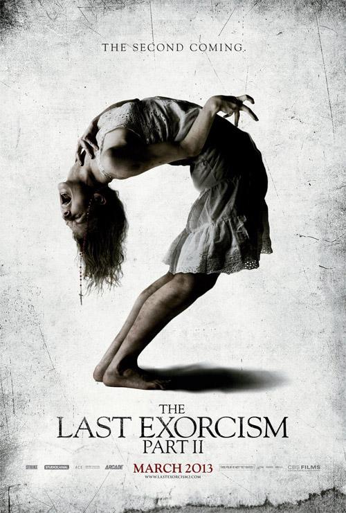 El horrible cartel de The Last Exorcismo Part II... lo dicho, horrible