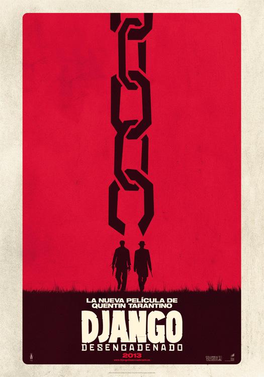 Uno de los carteles de Django desencadenado