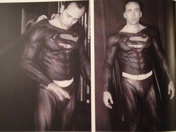 Impresionante Nicolas Cage como el hombre de acero en la nunca realizada Superman Lives de Tim Burton