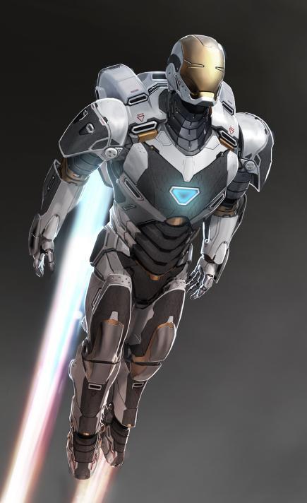 La armadura de Iron Man modo space suit
