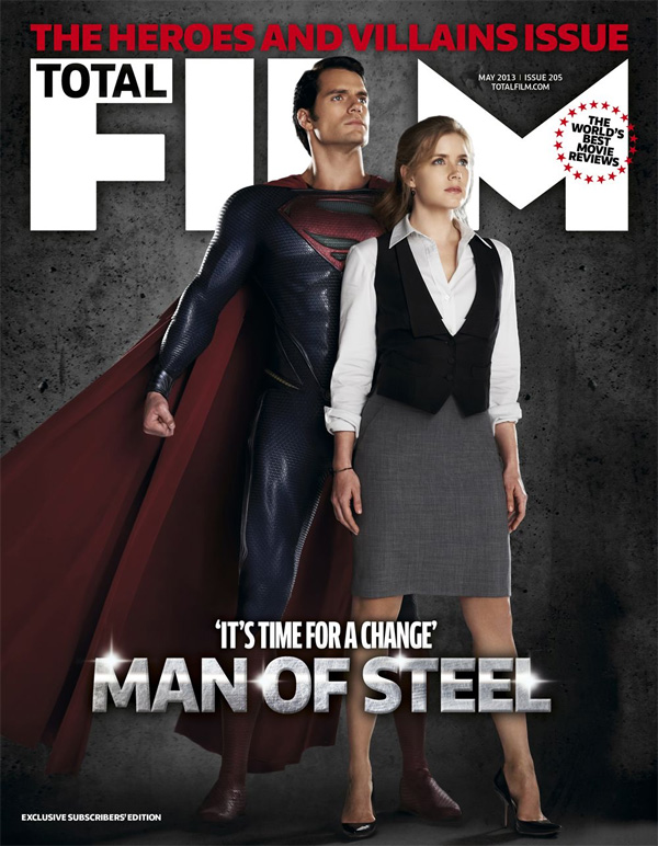 La portada del último número de Total Film dedicado a El hombre de acero... en nada material a cascoporro