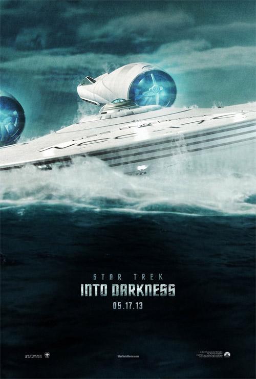 Un cartel fan made de Star Trek: en la oscuridad realizado por R. Wallace aka Madman