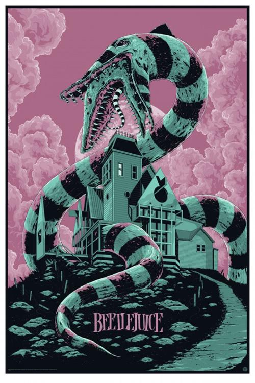 Fabuloso nuevo cartel de Beetlejuice para Mondo obra de Ken Taylor... yo quiero uno