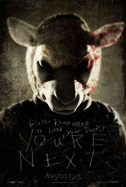 Uno de los tres carteles que han aparecido hoy para promocionar You're Next