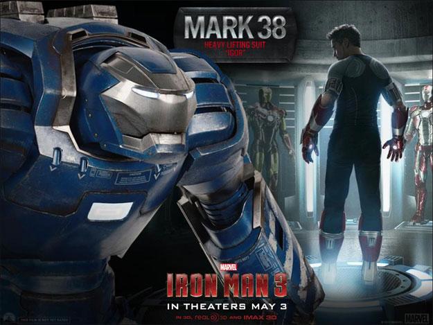 Otra de las armaduras que veremos en Iron Man 3... la Mark 38, esa que pensamos que era la Hulkbuster