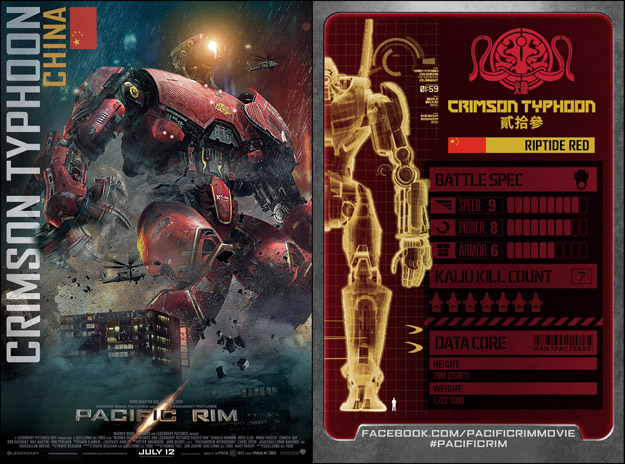 La trading card de Crimson Typhoon