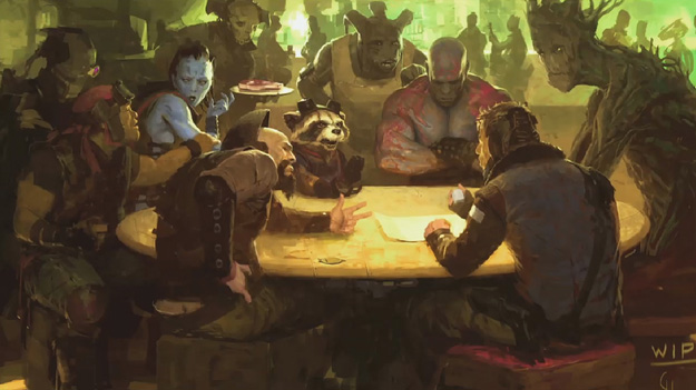 Concept art de Guardians of the Galaxy