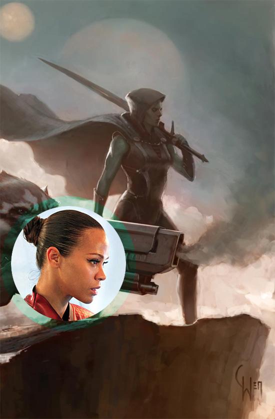 Zoe Saldana, a partir de ahora y salvo sorpresa Gamora