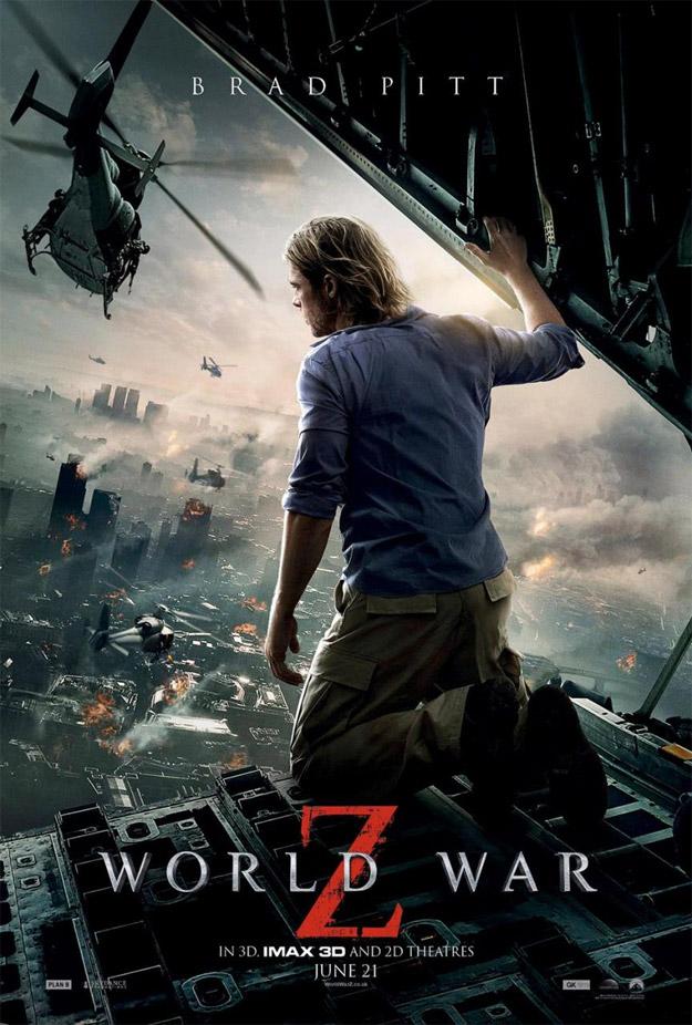 El nuevo cartel de Guerra Mundial Z muestra a Brad Pitt rendido ante la evidencia zombi