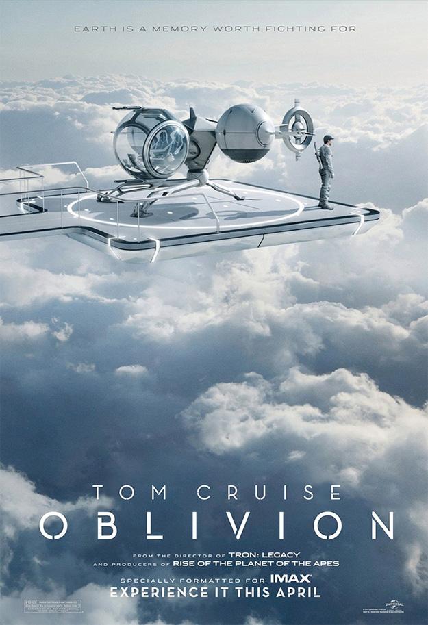 El cartel para IMAX de Oblivion de Joseph Kosinski